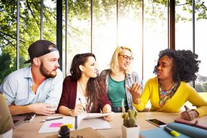 Diversity Friends Team Brainstorming